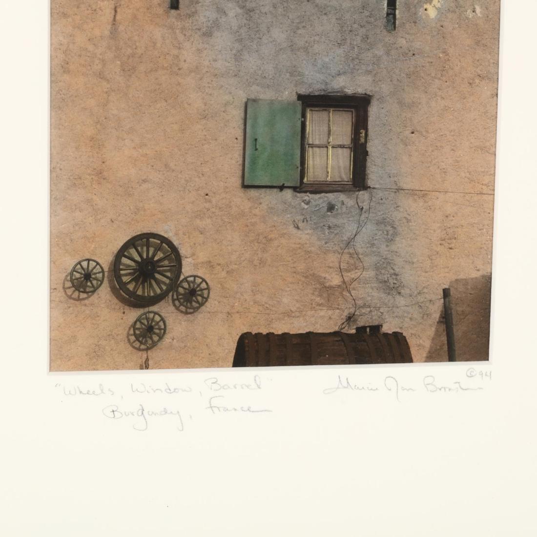 Marcie Jan Bronstein (ME),  'Wheels, Window, Barrel,' - 3