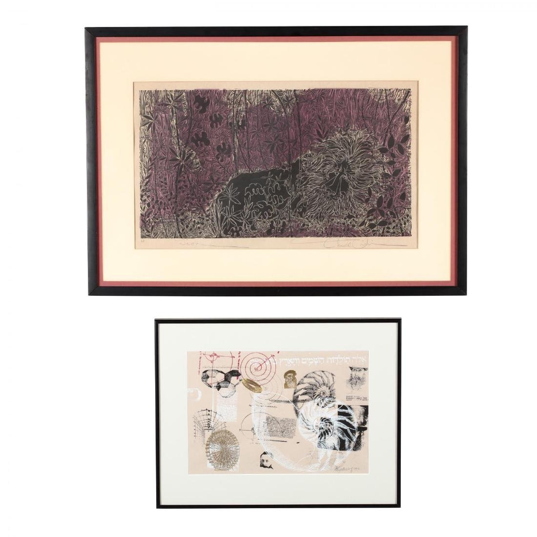 Two 20th Century Woodblock Prints - Elizabeth Wolf and