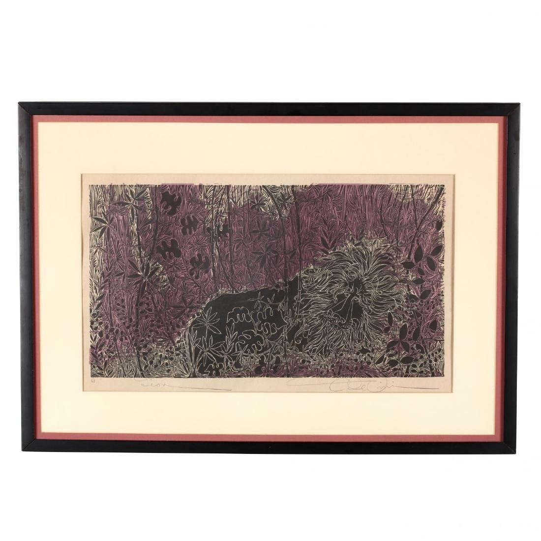 Two 20th Century Woodblock Prints - Elizabeth Wolf and - 2
