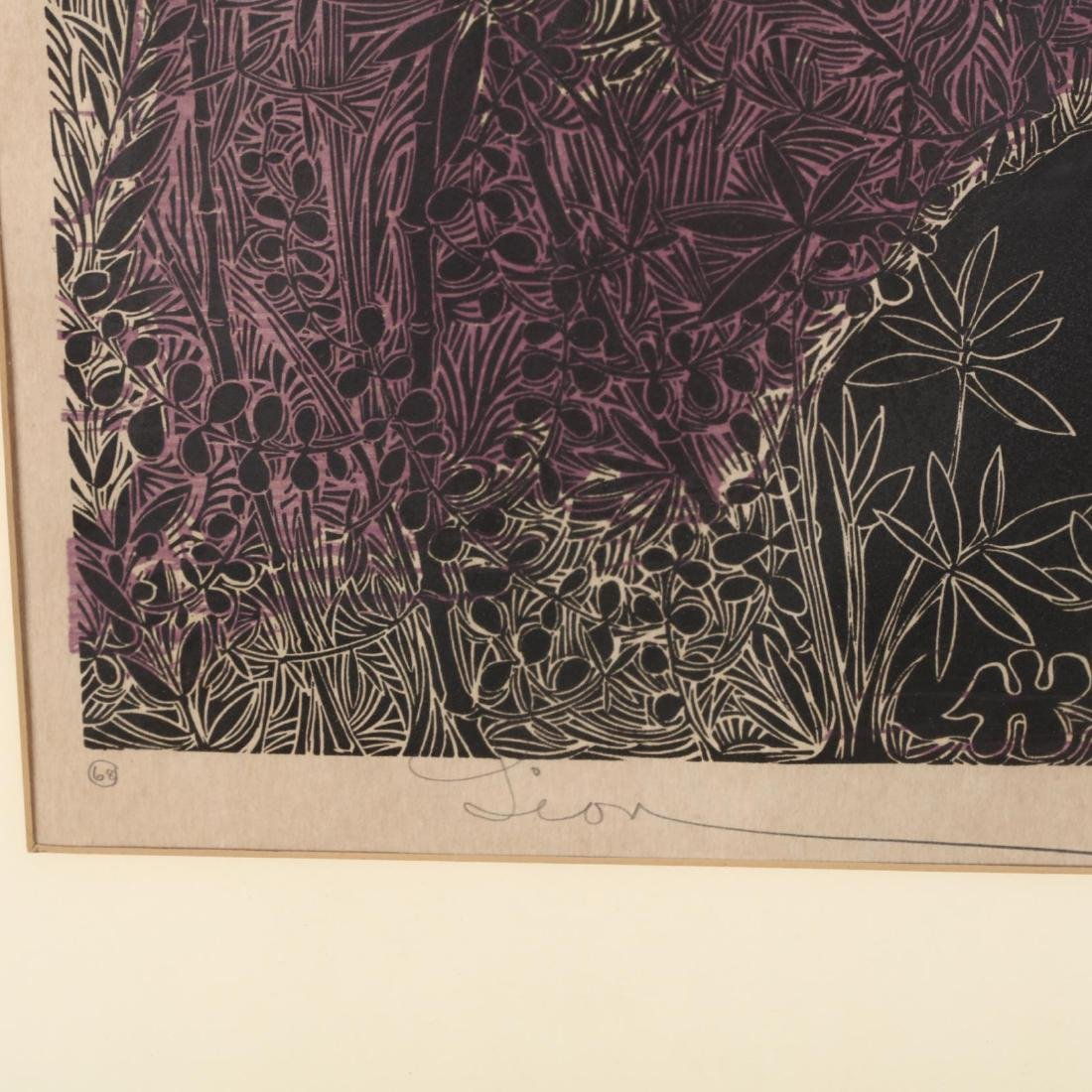 Two 20th Century Woodblock Prints - Elizabeth Wolf and - 4