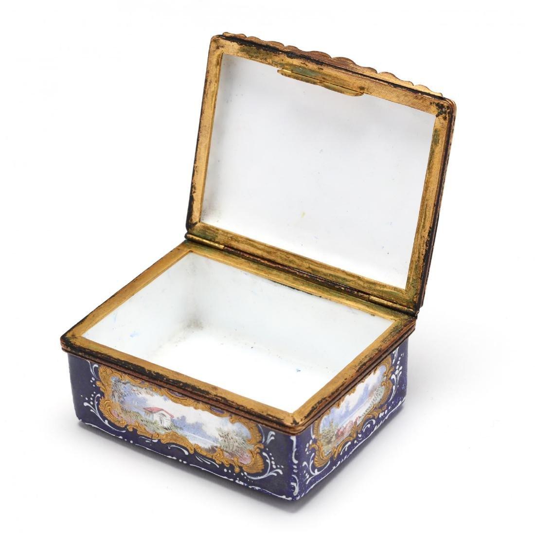 An Antique Enamel Table Box, att. Bilston - 4