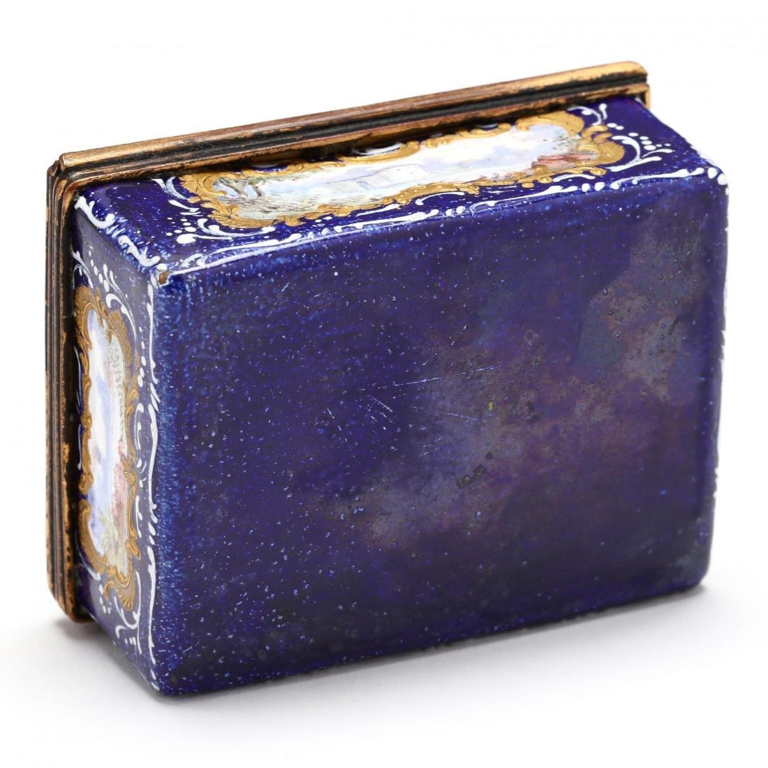 An Antique Enamel Table Box, att. Bilston - 6