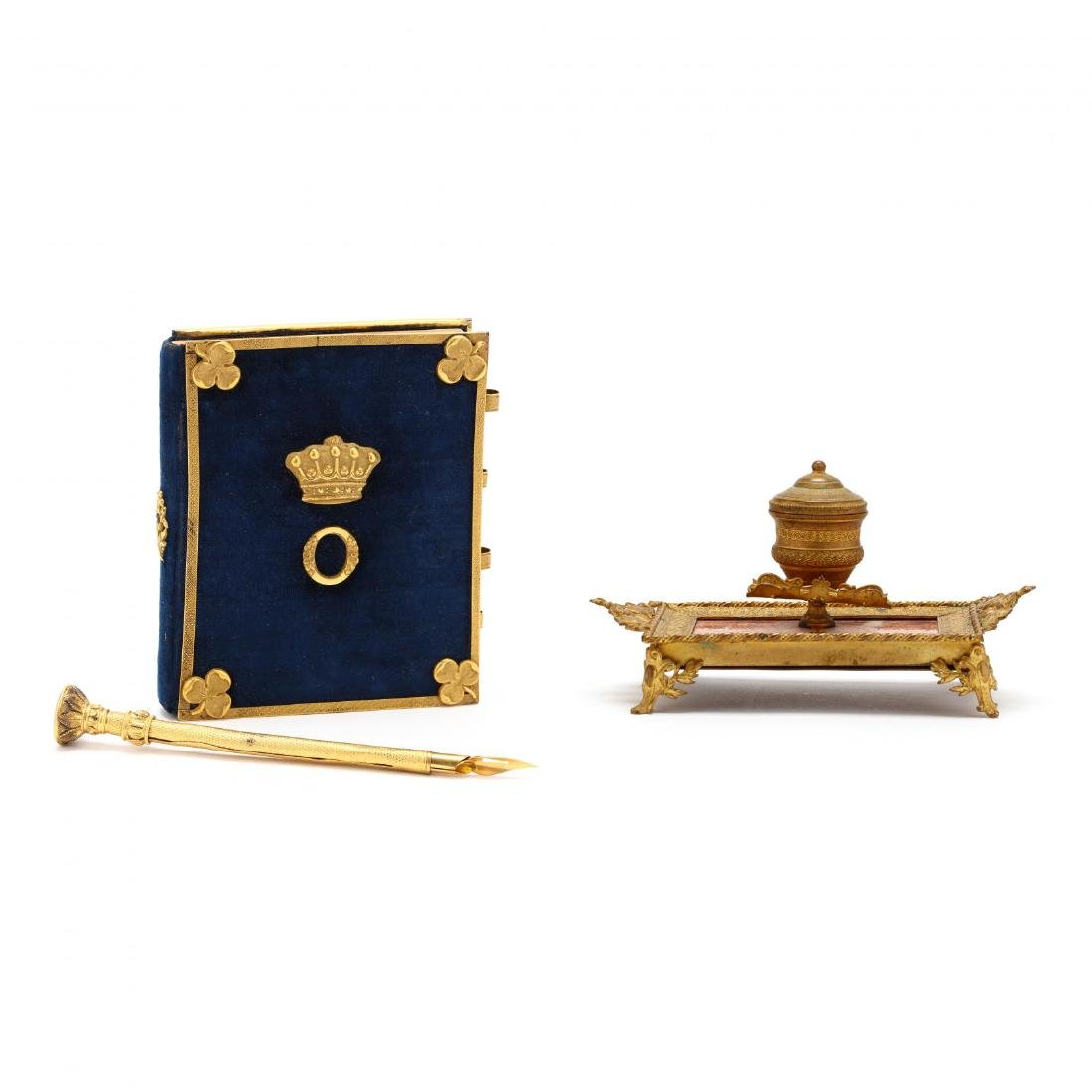 Two 19th Century Desk Accessories with  Doré  Mounts