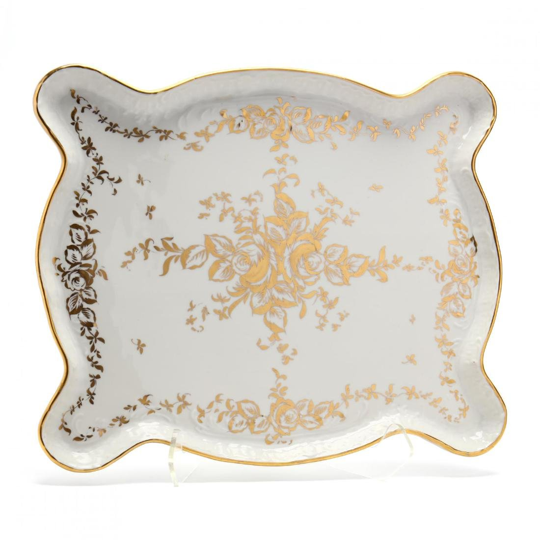 A Large Hand-Painted Vintage Limoges Tray