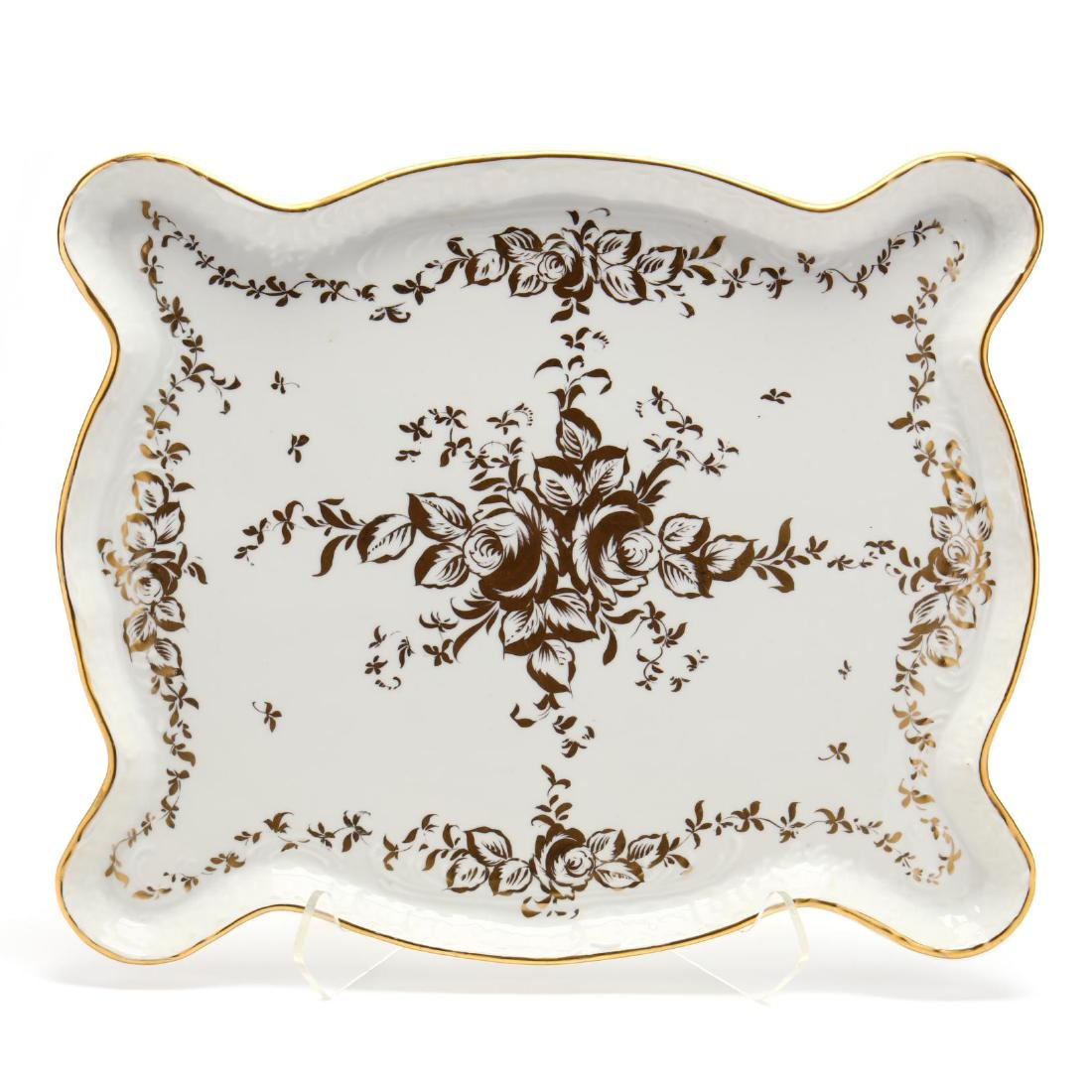 A Large Hand-Painted Vintage Limoges Tray - 2