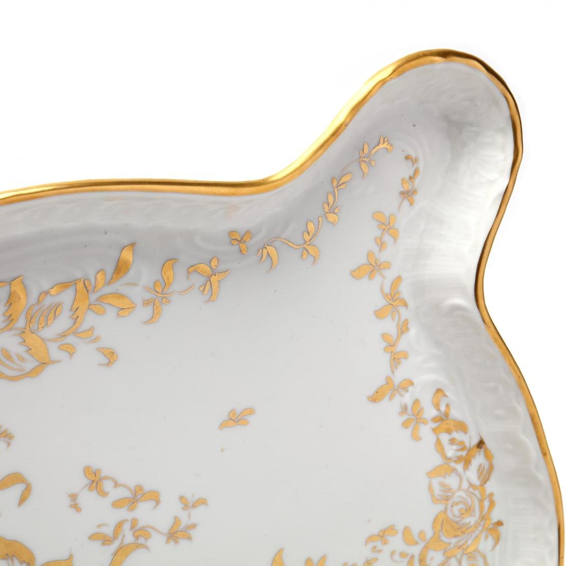 A Large Hand-Painted Vintage Limoges Tray - 4