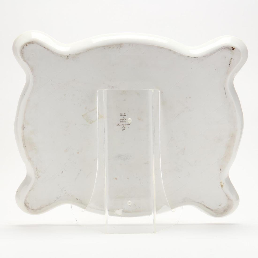A Large Hand-Painted Vintage Limoges Tray - 5
