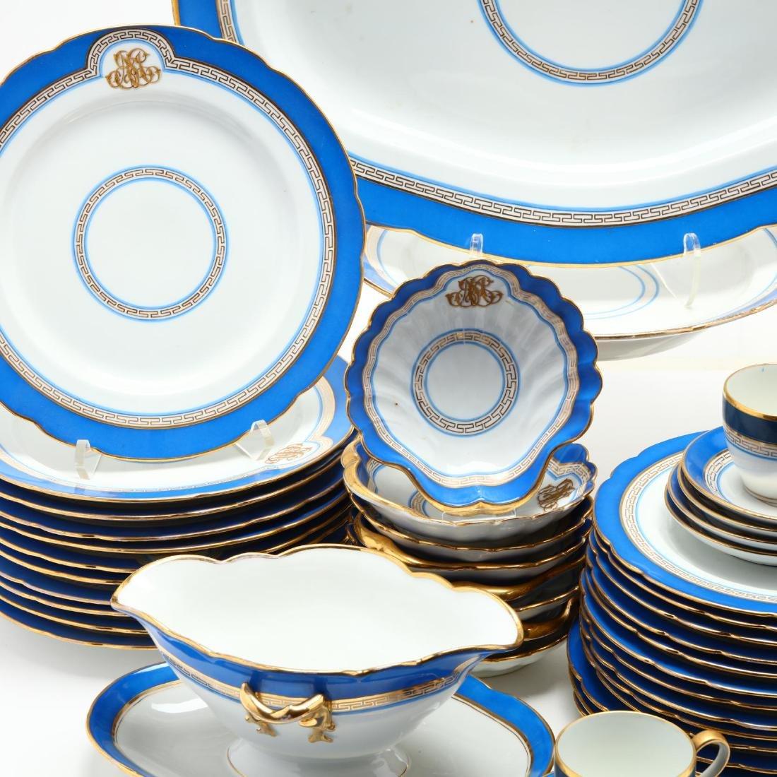 An Antique Set of Monogrammed Paris Porcelain - 2