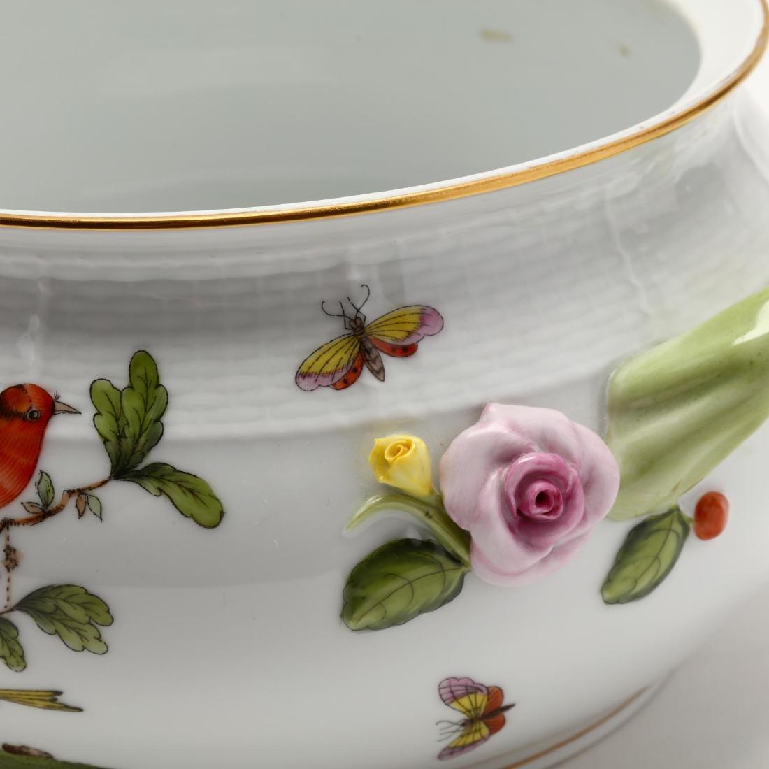 "Two Herend ""Rothschild Bird"" Serving Pieces - 7"