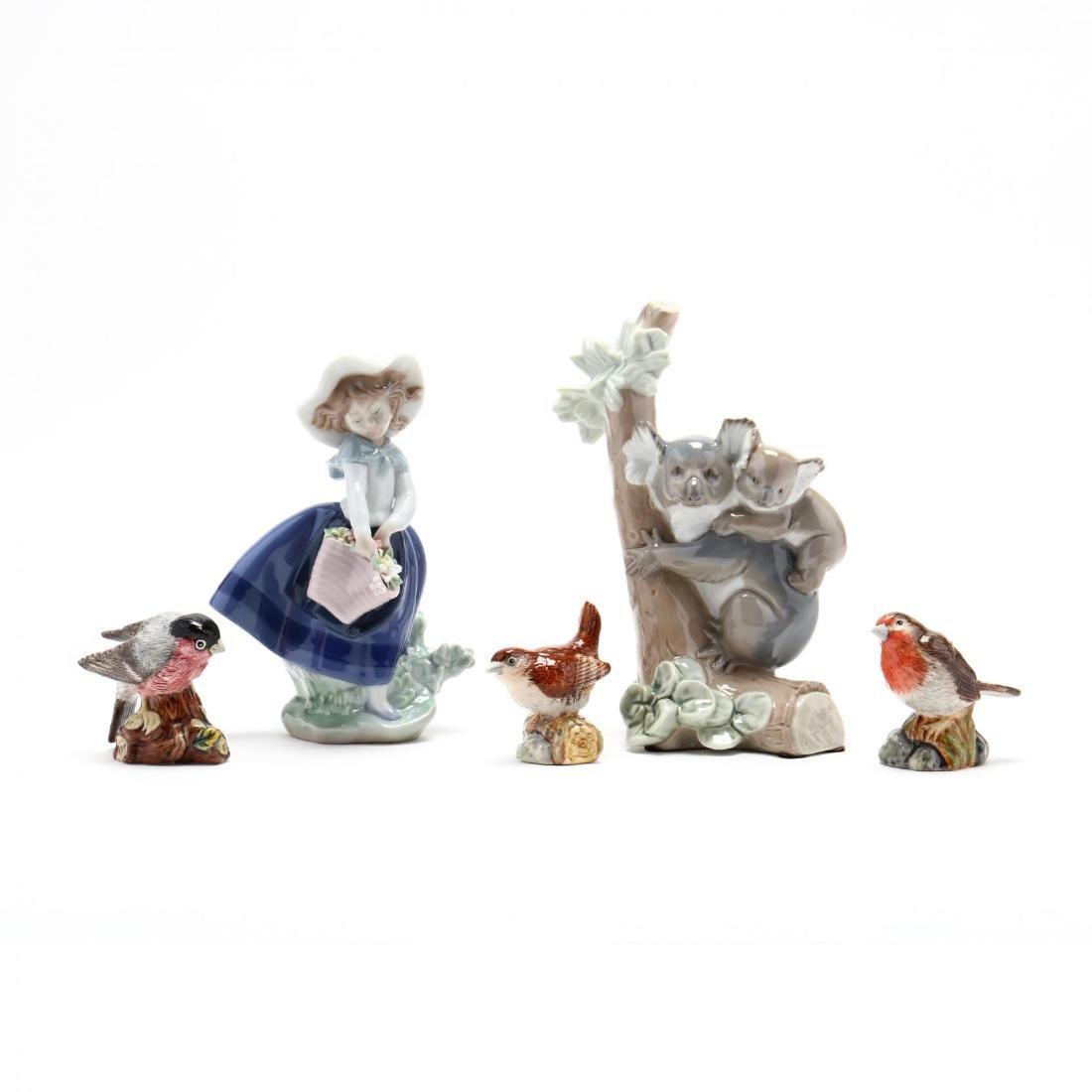 Five Porcelain Figures, Lladro and Royal Doulton - 2