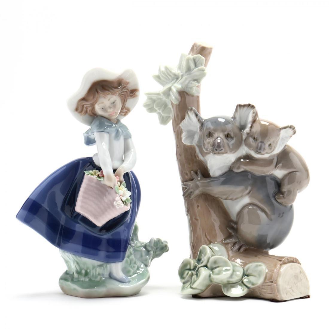 Five Porcelain Figures, Lladro and Royal Doulton - 5
