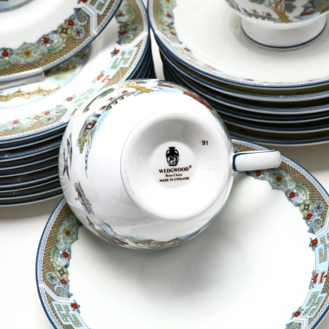 (60) Pieces of Wedgwood  Chinese Legend  DInnerware - 5