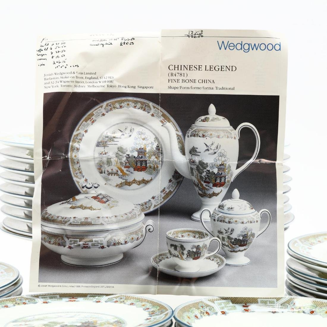 (60) Pieces of Wedgwood  Chinese Legend  DInnerware - 6