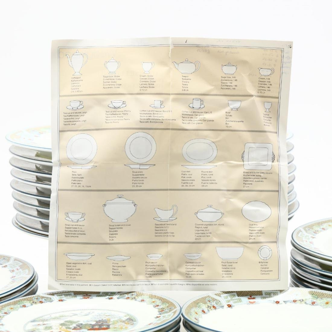 (60) Pieces of Wedgwood  Chinese Legend  DInnerware - 7