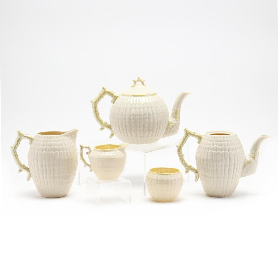 Belleek, 52 Piece Shell Motif Tea Set - 4