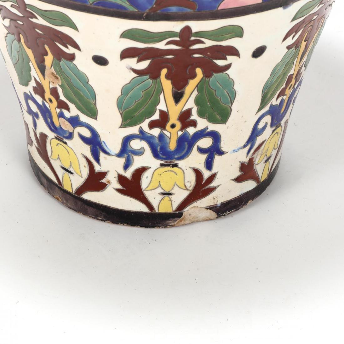 A Large Continental Glazed Pottery Floor Vase - 3