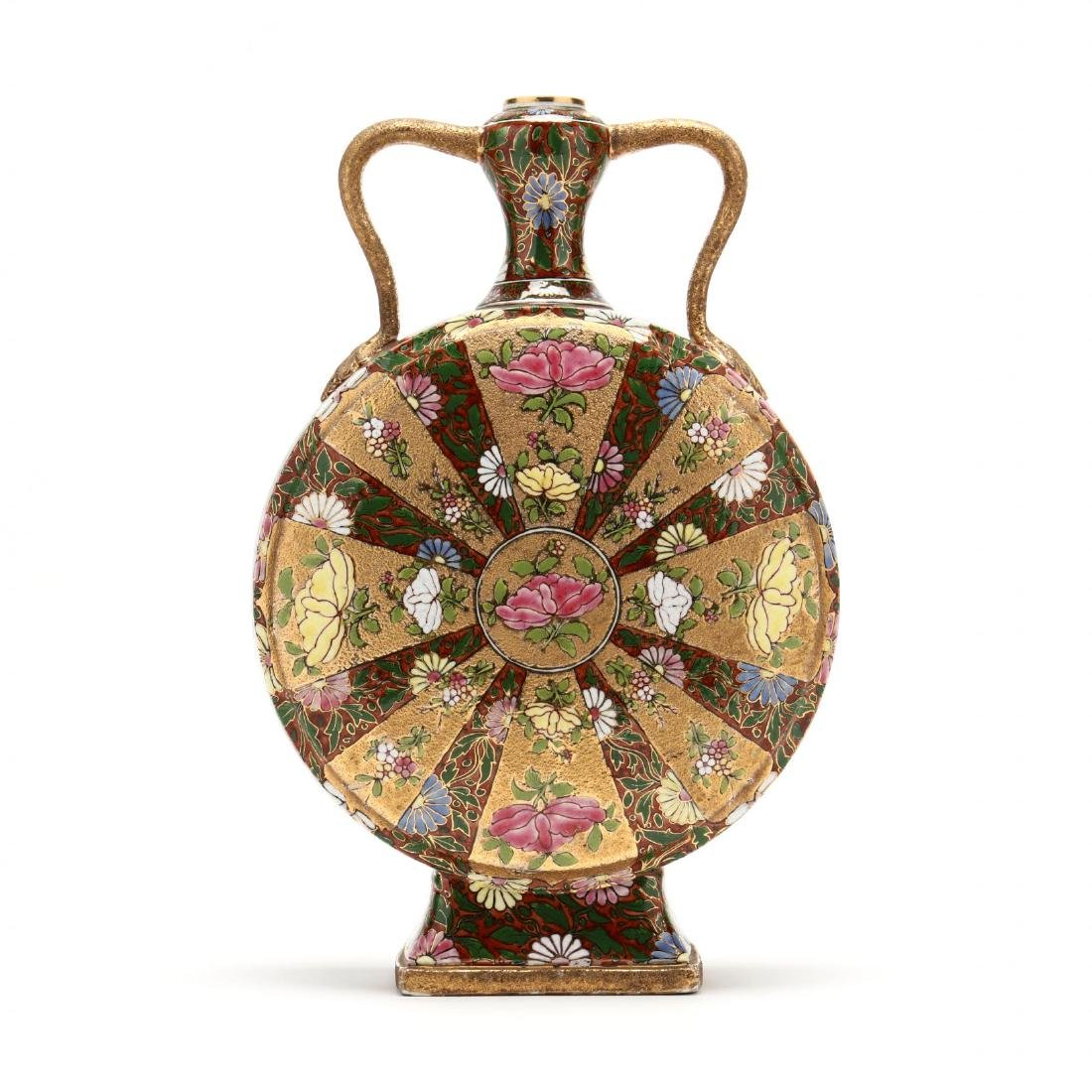 20th Century Gilt Decorated Moon Flask
