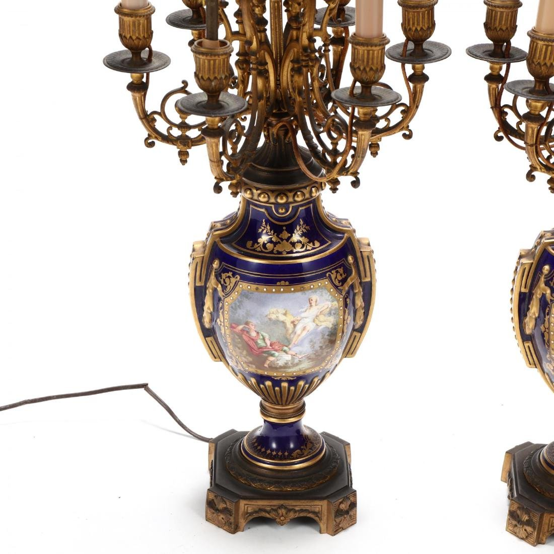 A Pair of Sevres Painted Porcelain Electrified - 2