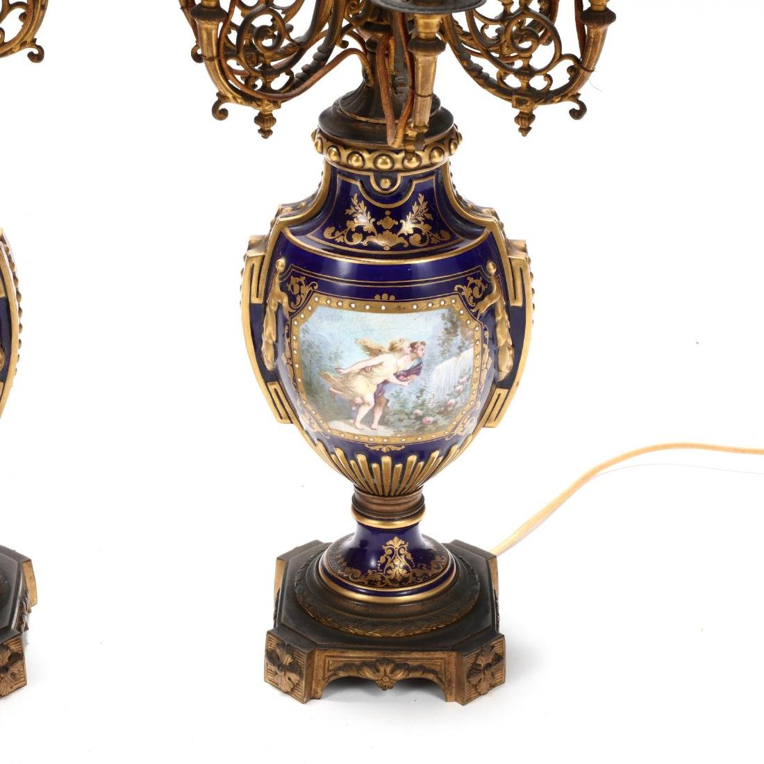 A Pair of Sevres Painted Porcelain Electrified - 3