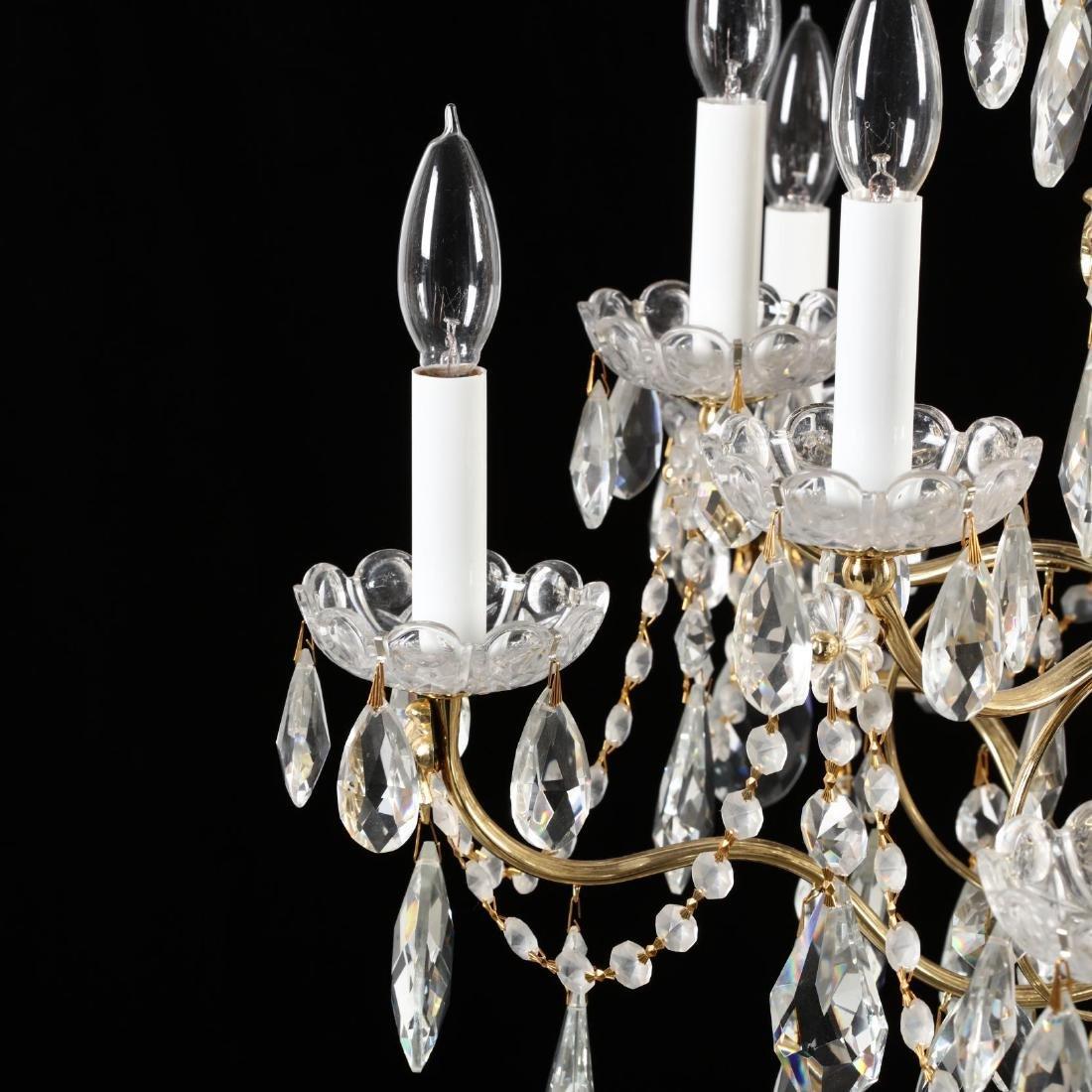 Schonbek, Crystal Drop Prism Chandelier - 5
