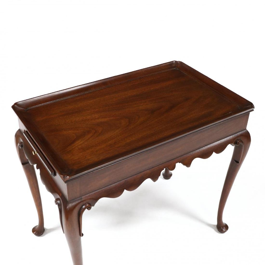 Henkel Harris, Queen Anne Style Mahogany Tea Table - 2