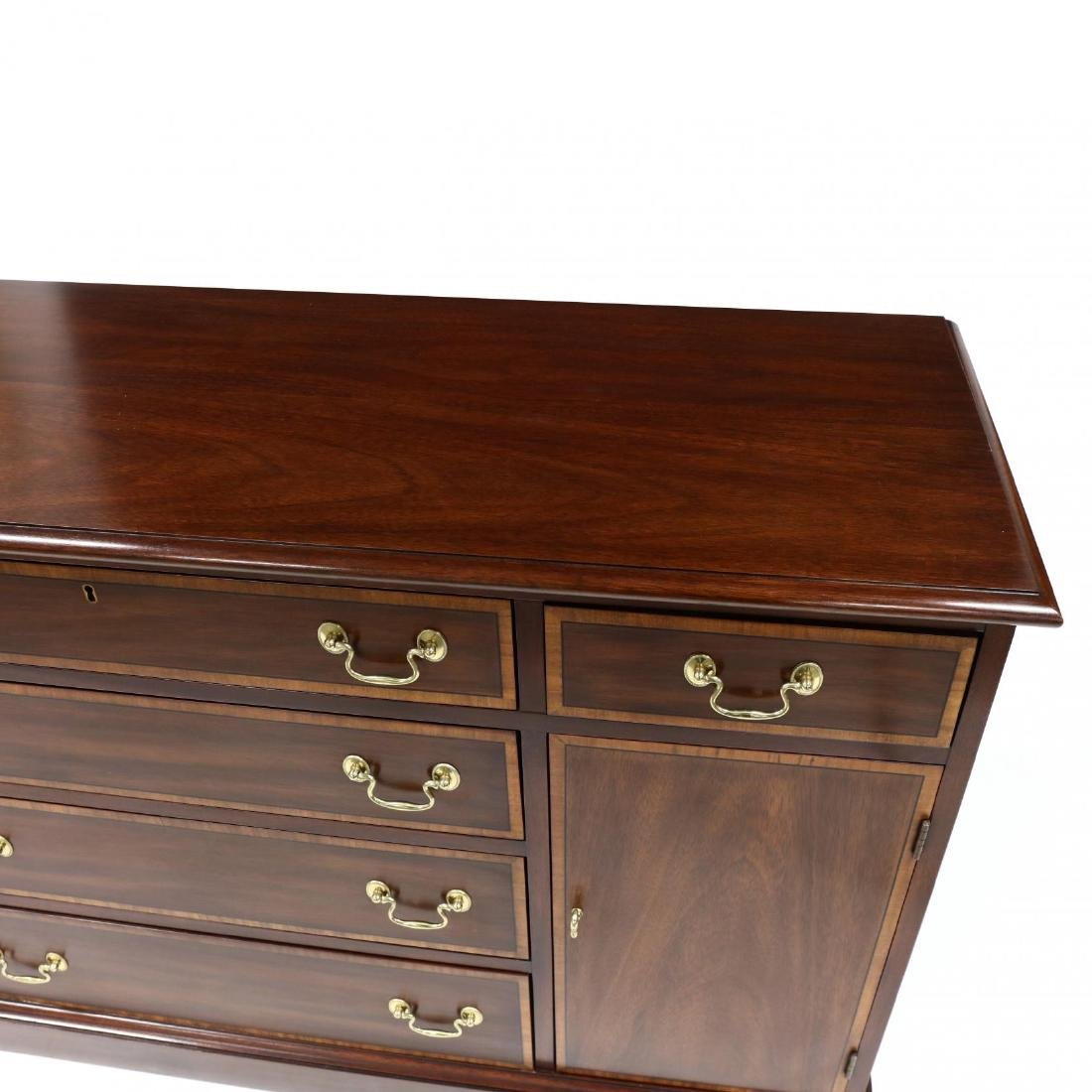 Henkel Harris, Chippendale Style Banded Mahogany Buffet - 2