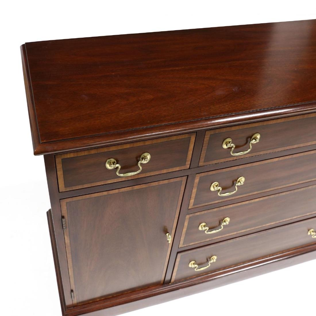 Henkel Harris, Chippendale Style Banded Mahogany Buffet - 3