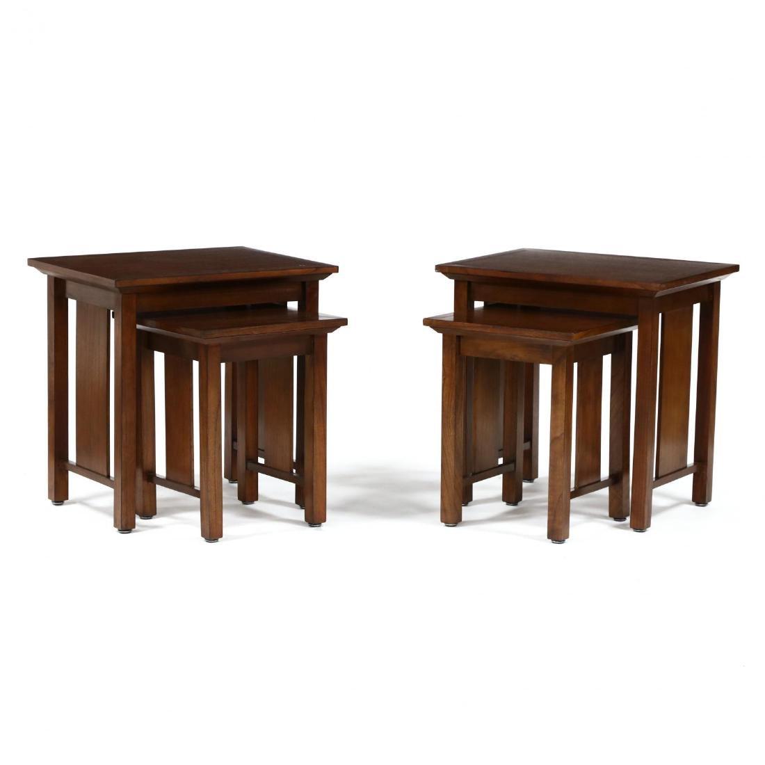 Baker, Pair of Mahogany Nesting Tables