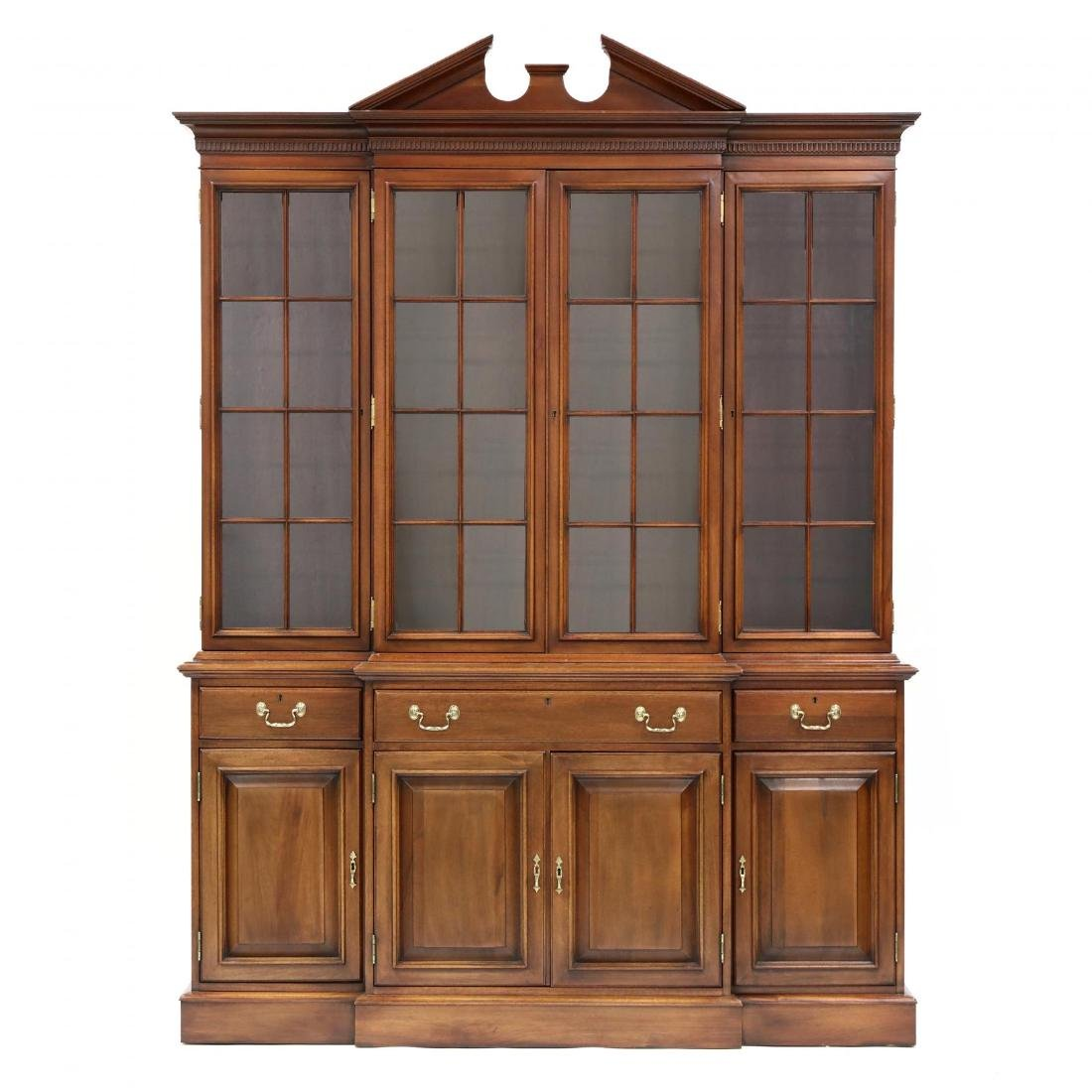 Link-Taylor, Chippendale Style Mahogany Breakfront