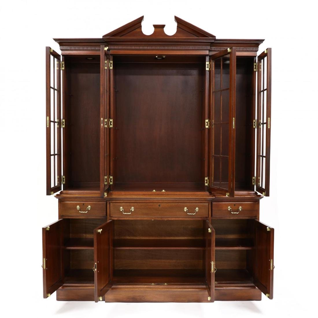 Link-Taylor, Chippendale Style Mahogany Breakfront - 2