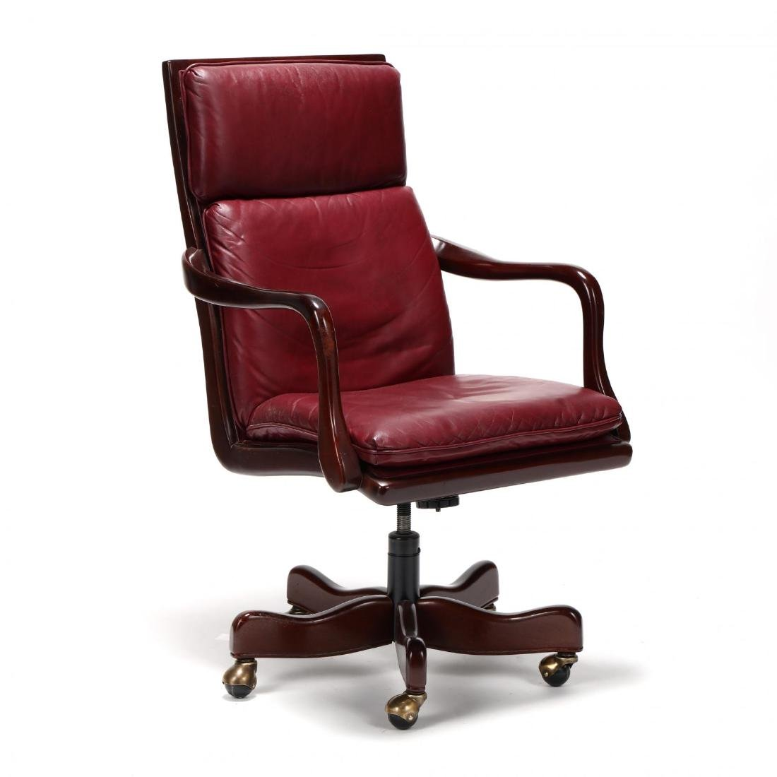 Hancock & Moore, Queen Anne Style Leather Office Chair