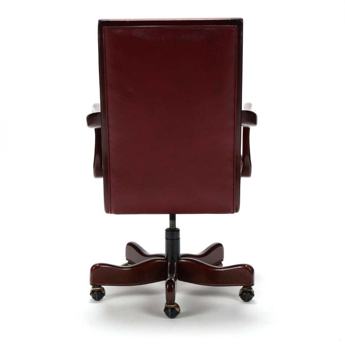 Hancock & Moore, Queen Anne Style Leather Office Chair - 3