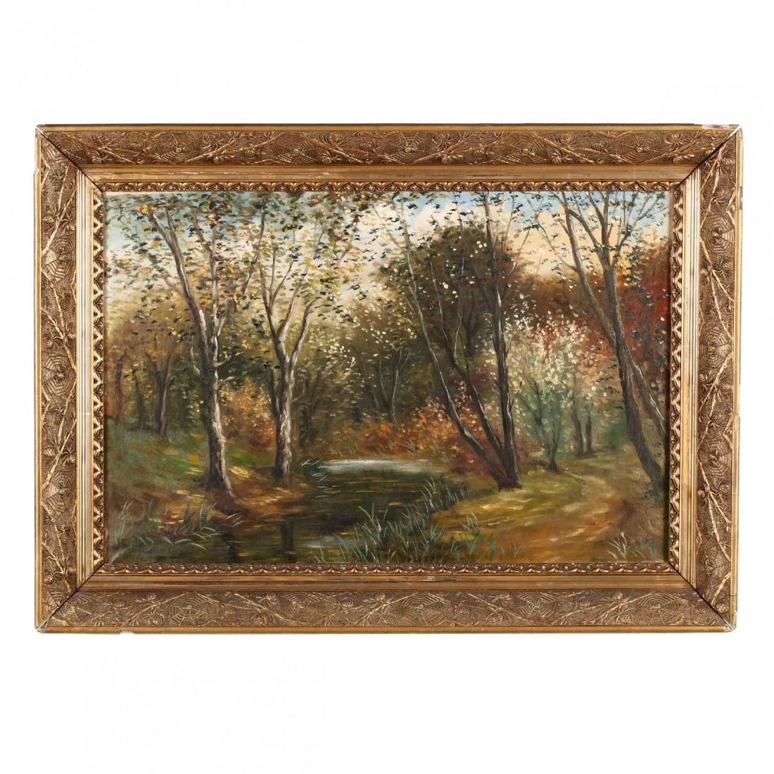 An Antique American School Painting of a Forest