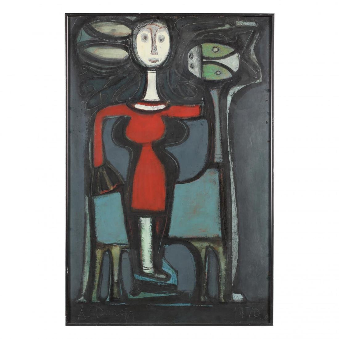 Alfonsas Dargis (1909-1996), Untitled (Girl with Horse)