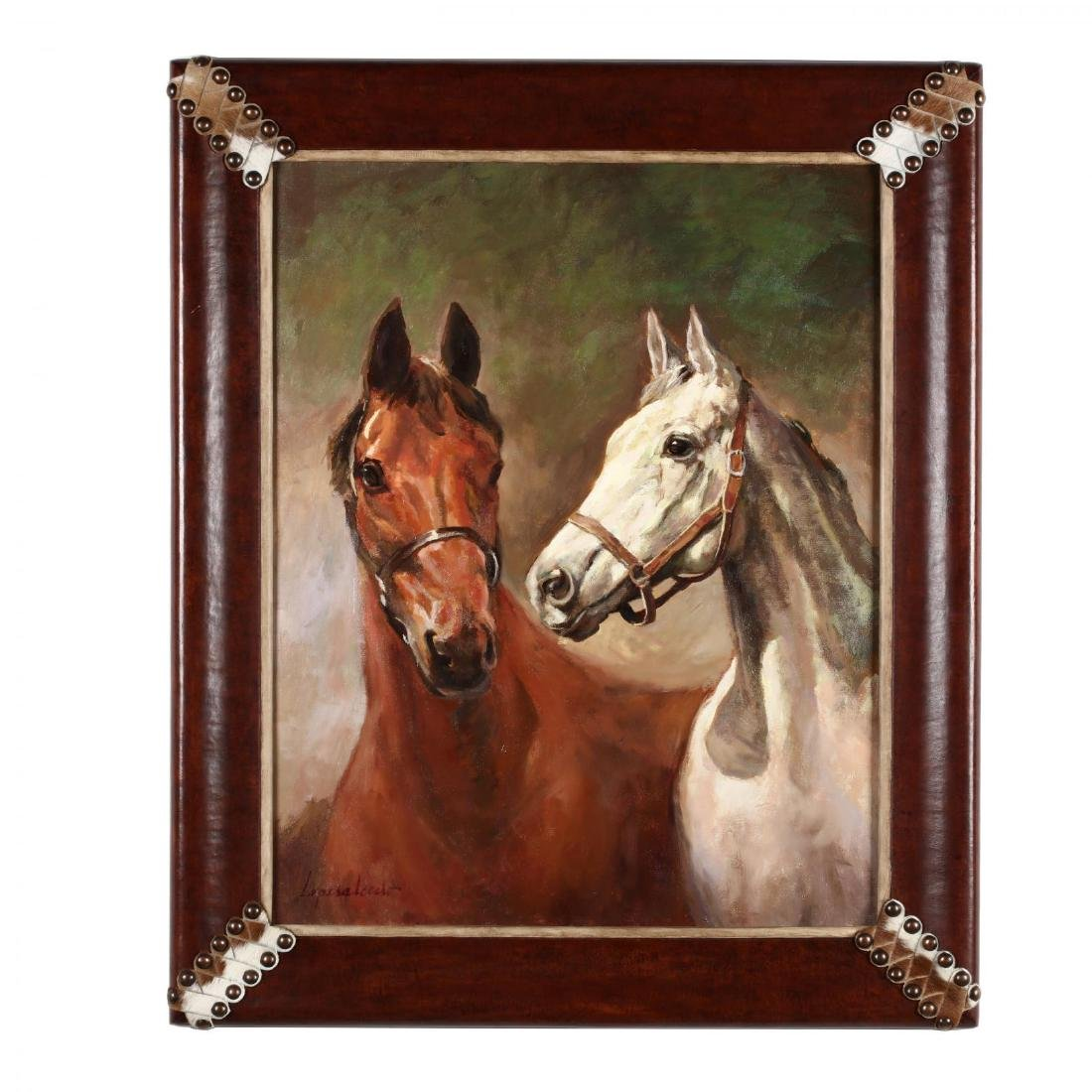 A Contemporary Painting of Two Horses