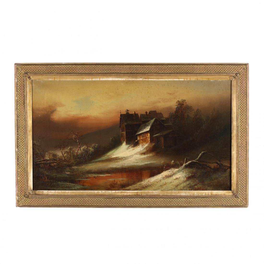 Hudson River School (19th Century), Snowy Landscape at