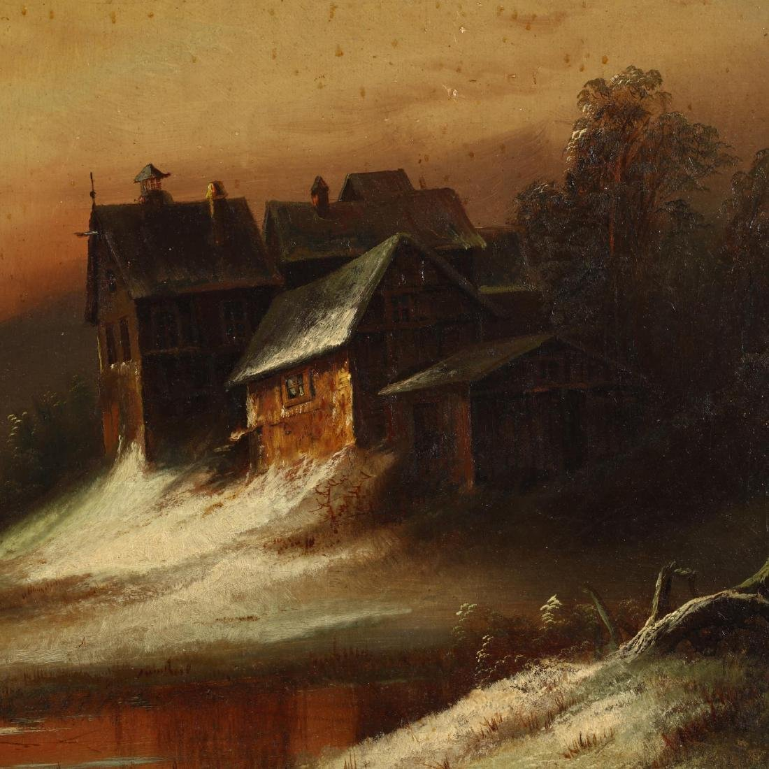 Hudson River School (19th Century), Snowy Landscape at - 2
