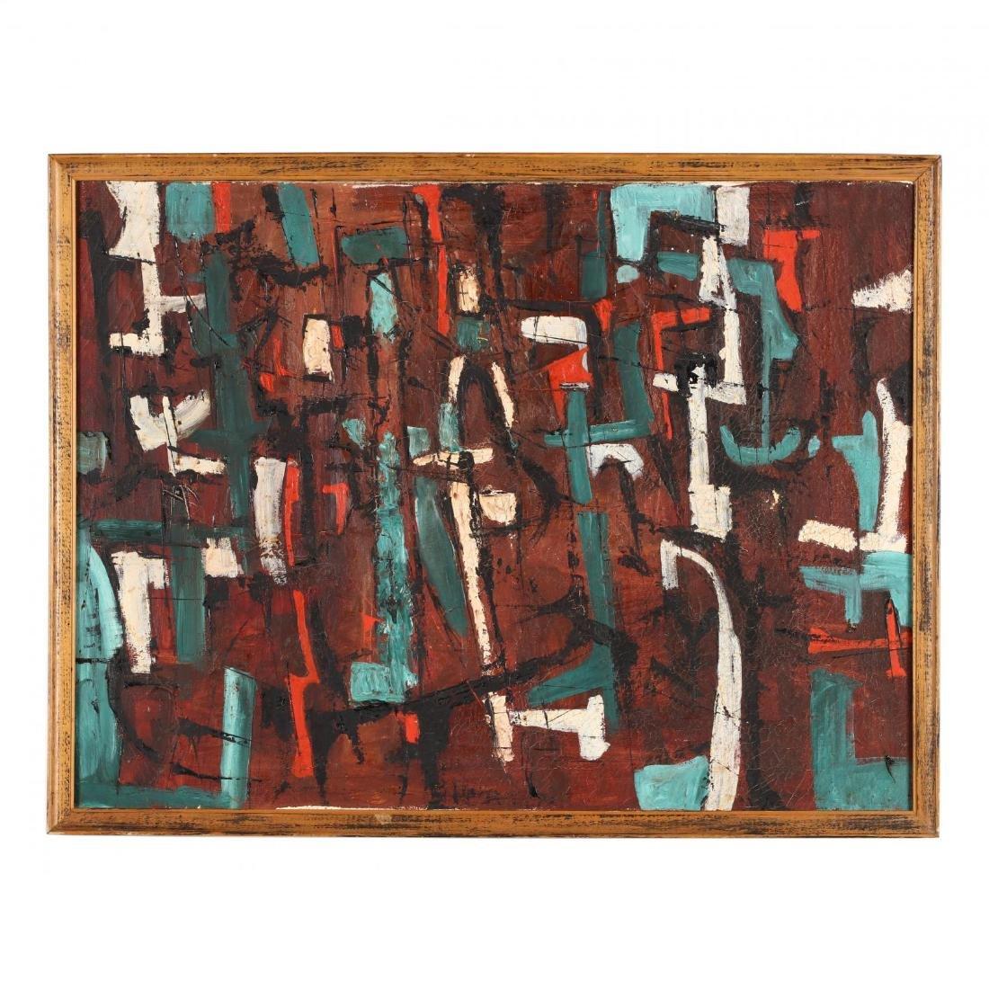 An Abstract Modern Painting, att. Tom Barnett