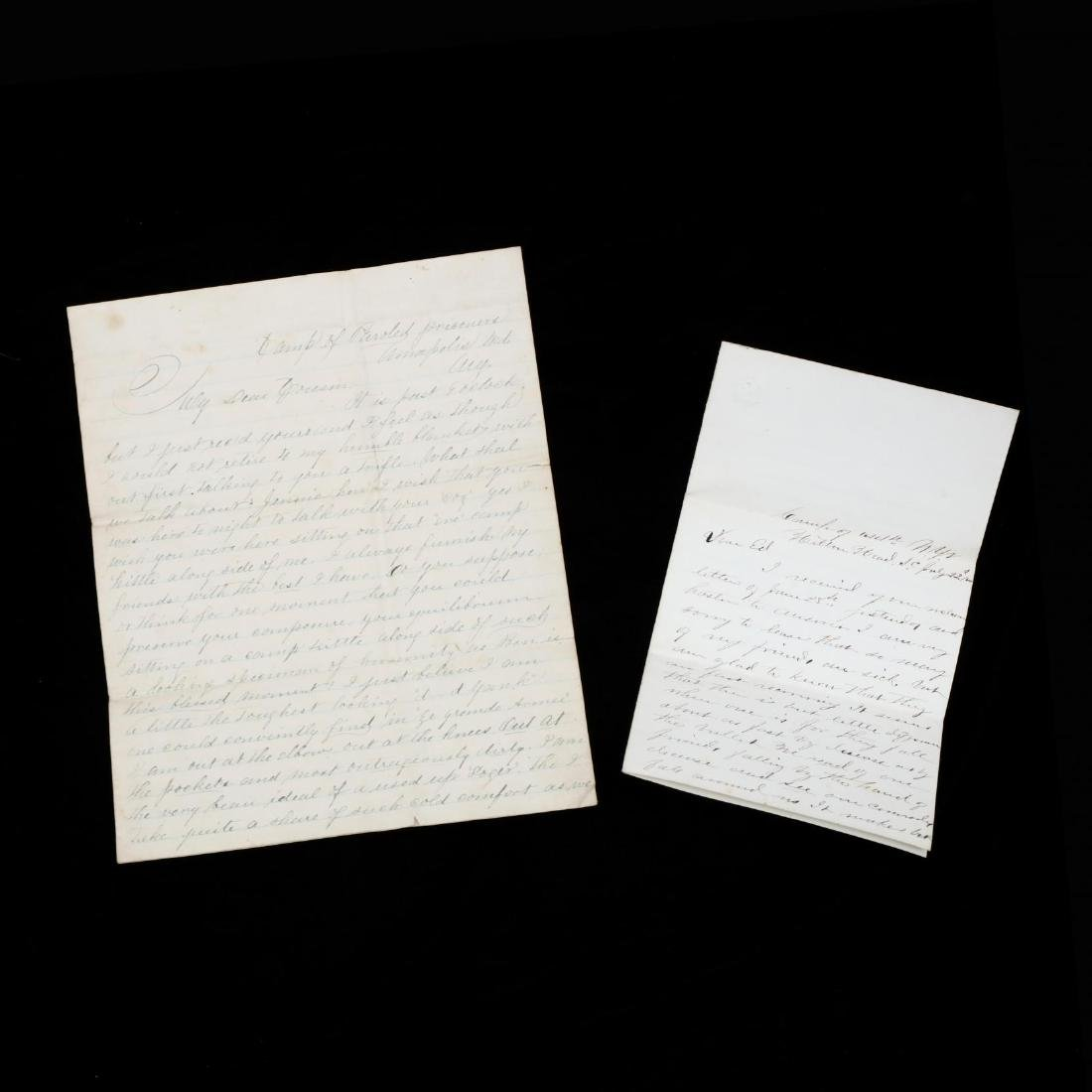 Anti-Lincoln Campaign Speech, Two Soldier Letters and - 4