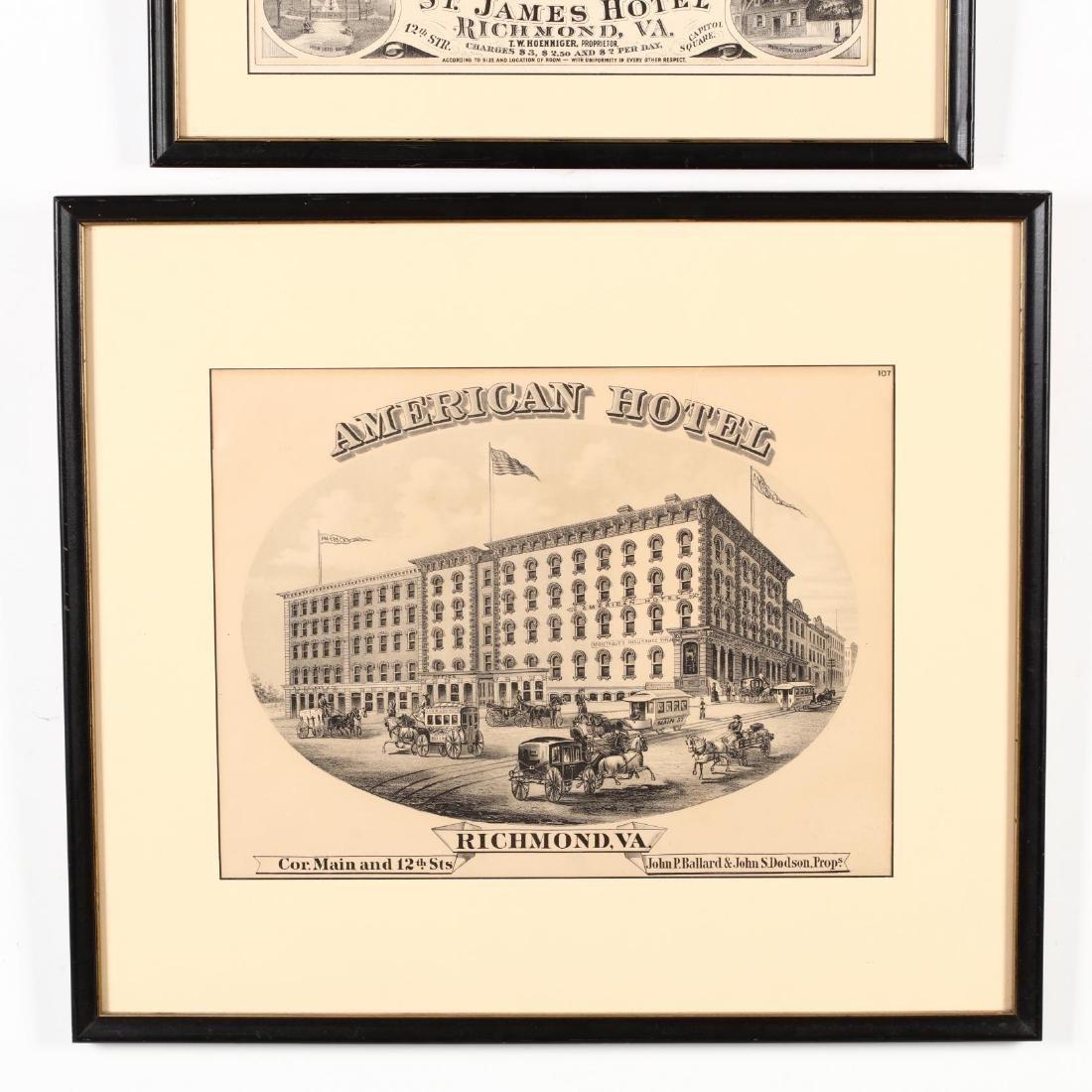 Two Antique Richmond, Virginia Hotel Advertisements - 4