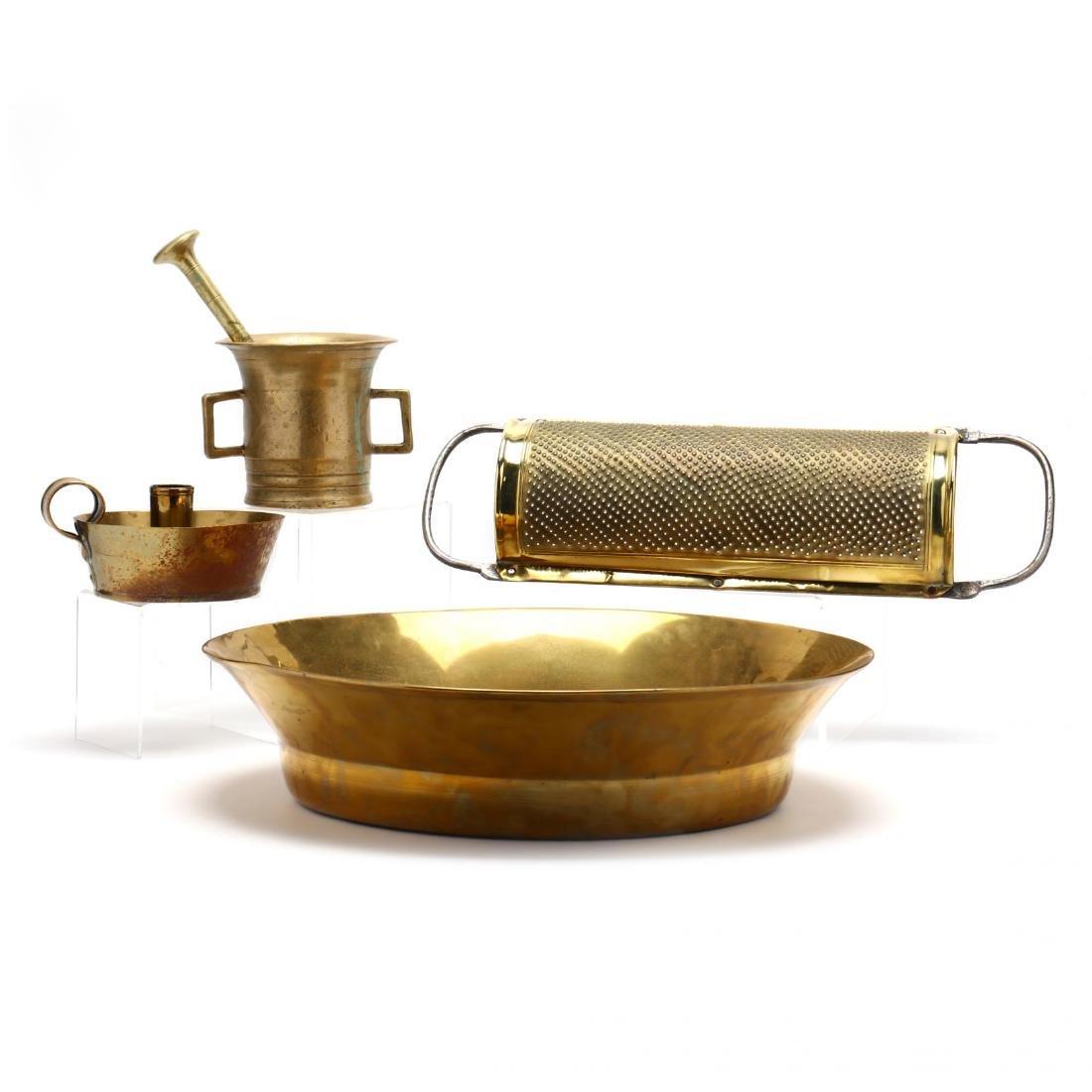 Four Vintage Brass Accessories