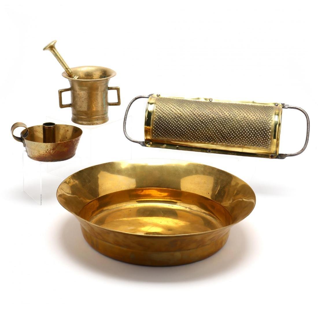 Four Vintage Brass Accessories - 2