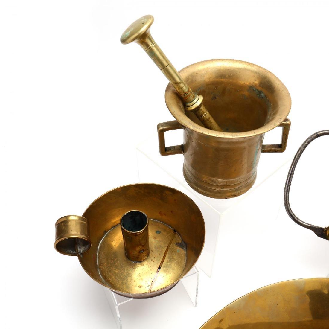 Four Vintage Brass Accessories - 5