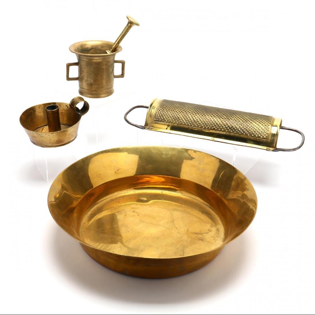 Four Vintage Brass Accessories - 6