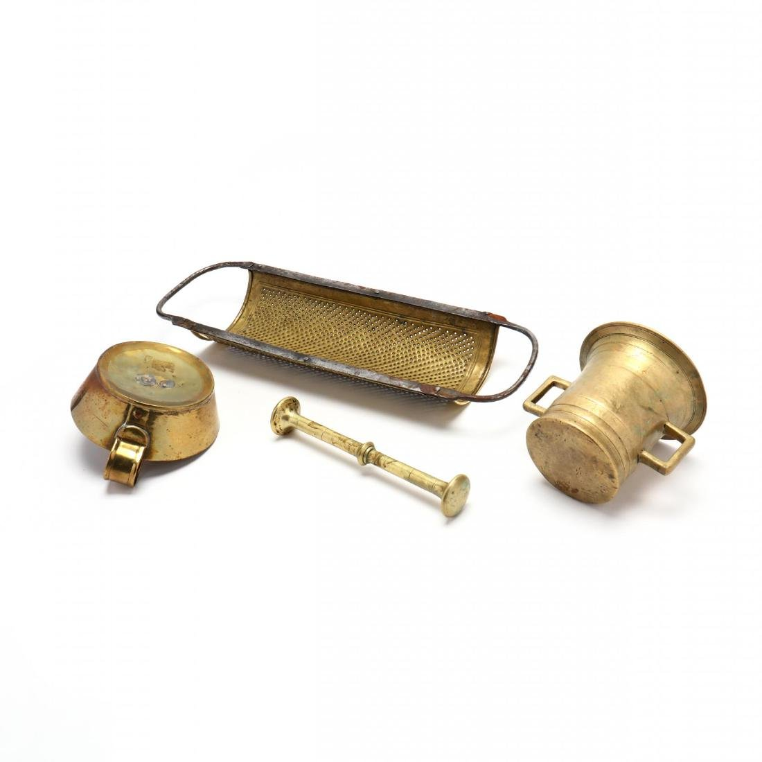 Four Vintage Brass Accessories - 8