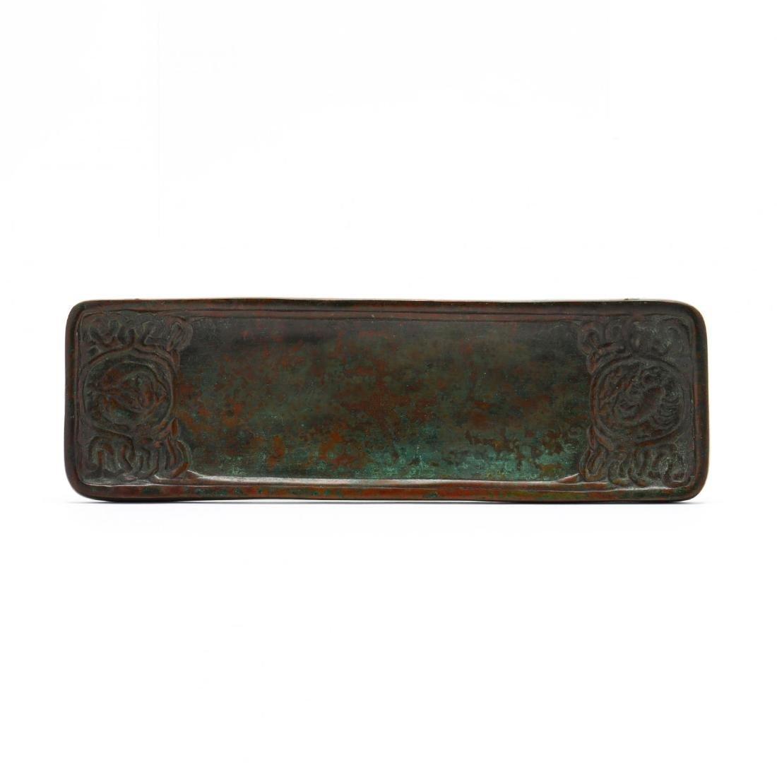 Tiffany Studios Bronze  Zodiac  Pen Tray