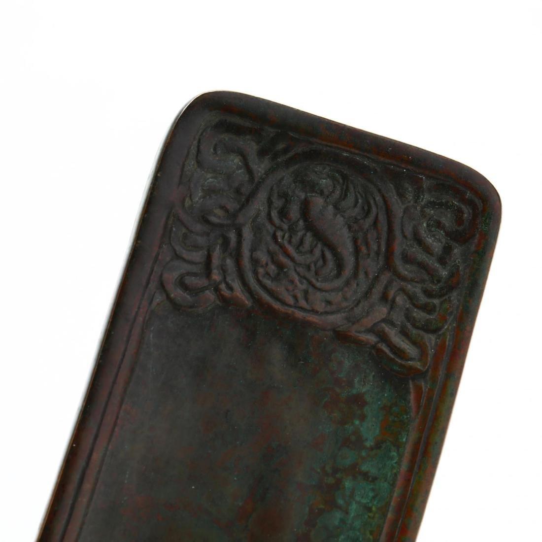 Tiffany Studios Bronze  Zodiac  Pen Tray - 2