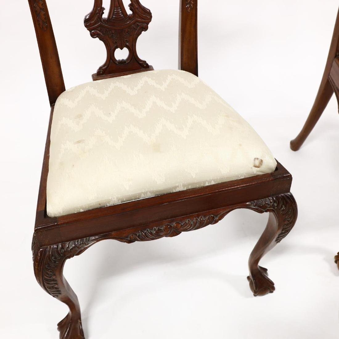 Set of Six Chippendale Style Carved Mahogany Dining - 3