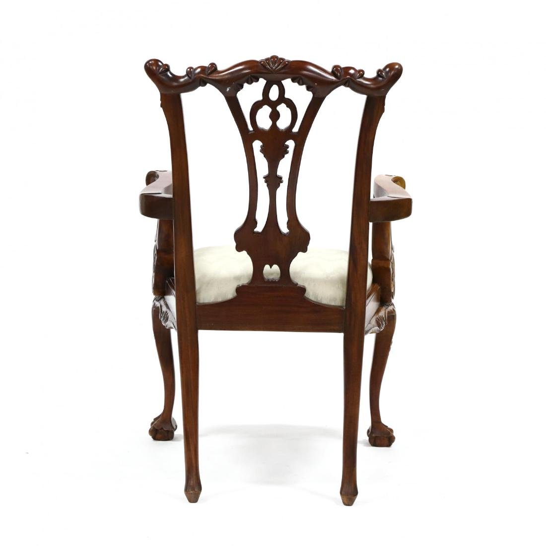 Set of Six Chippendale Style Carved Mahogany Dining - 7