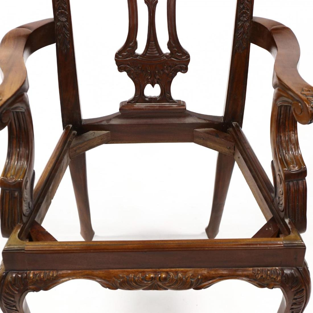 Set of Six Chippendale Style Carved Mahogany Dining - 8